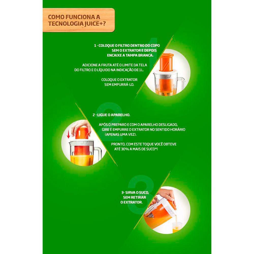 LIQUIDIFICADOR ARNO LN4S JUICE+ CLIC PRO BCO