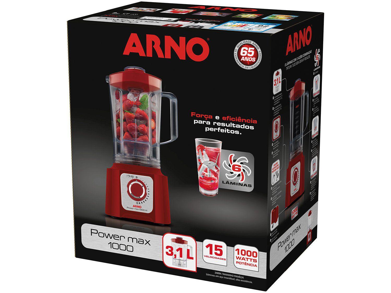 Liquidificador Arno LN54 1000W 15 Velocidade Power Max Vermelho