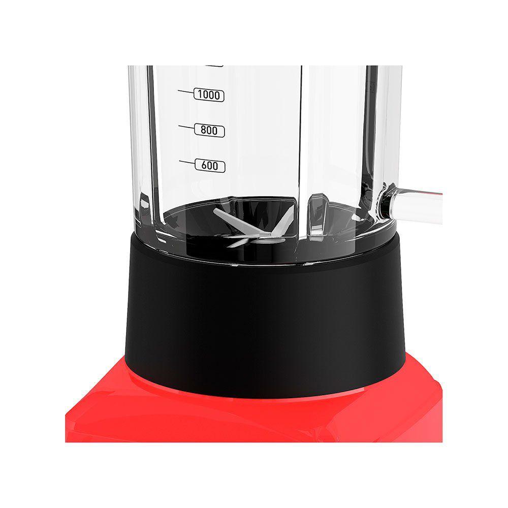 Liquidificador Mallory Taurus Glass 1300W 12 Velocidade Vermelho
