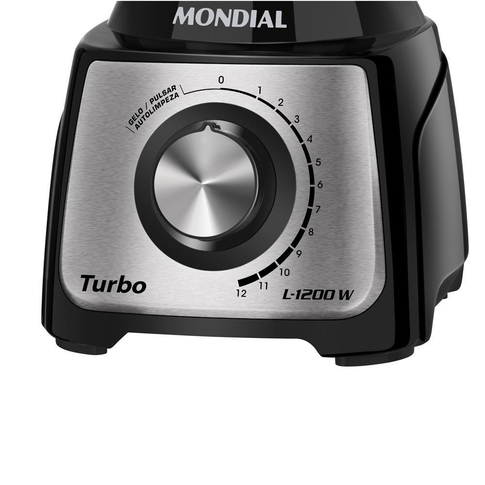 LIQUIDIFICADOR MONDIAL L-1200 1200W 12V PTO/INOX