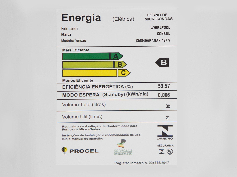 MICROONDAS CONSUL 32L CMS45ARBNA INX