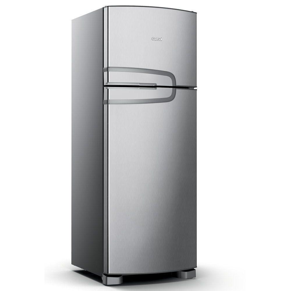 Refrigerador Consul CRM39AK Frost Free com Prateleiras Altura Flex Evox Prata – 340L