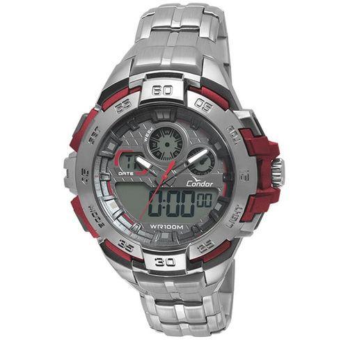 Relógio Condor CO1154BR/3R Plástico Pulseira Aço