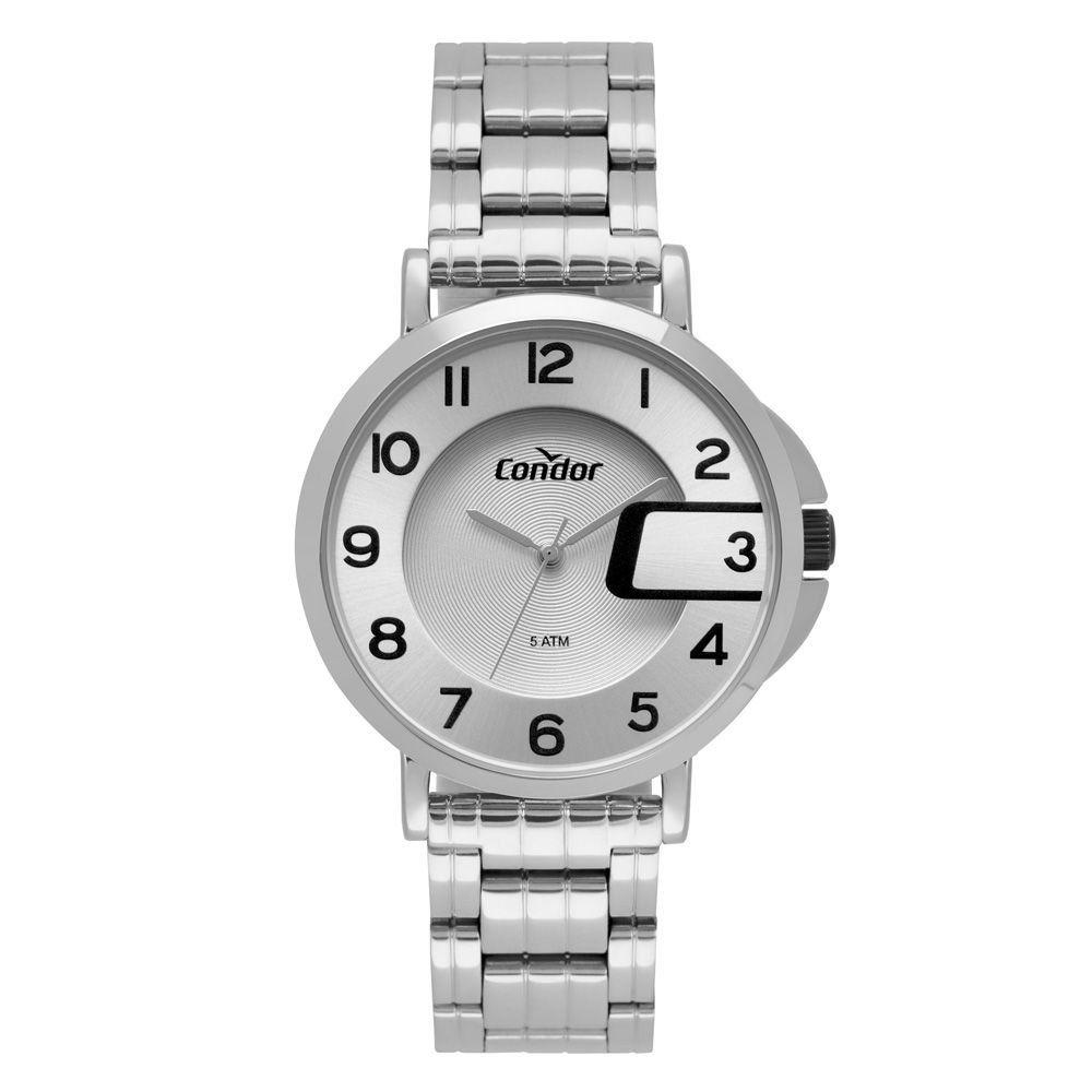 Relógio Condor C02038MRR/4C Metálico Prata Pulseira Aço