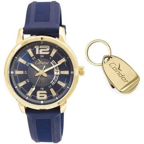 Relógio Condor CO2115YG/K8A Dourado Pulseira Silicone