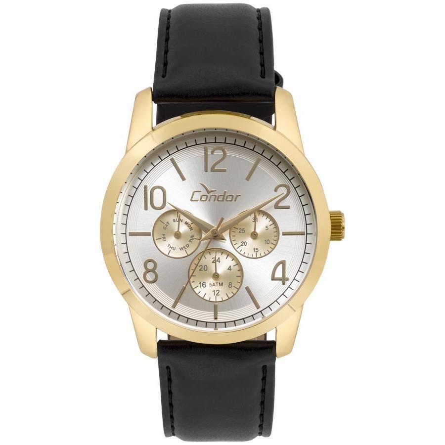 Relógio Condor C06P29IL/2K Dourado Pulseira Couro