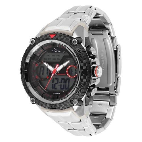Relógio Condor COAD1146AA/3R Plástico Pulseira Aço