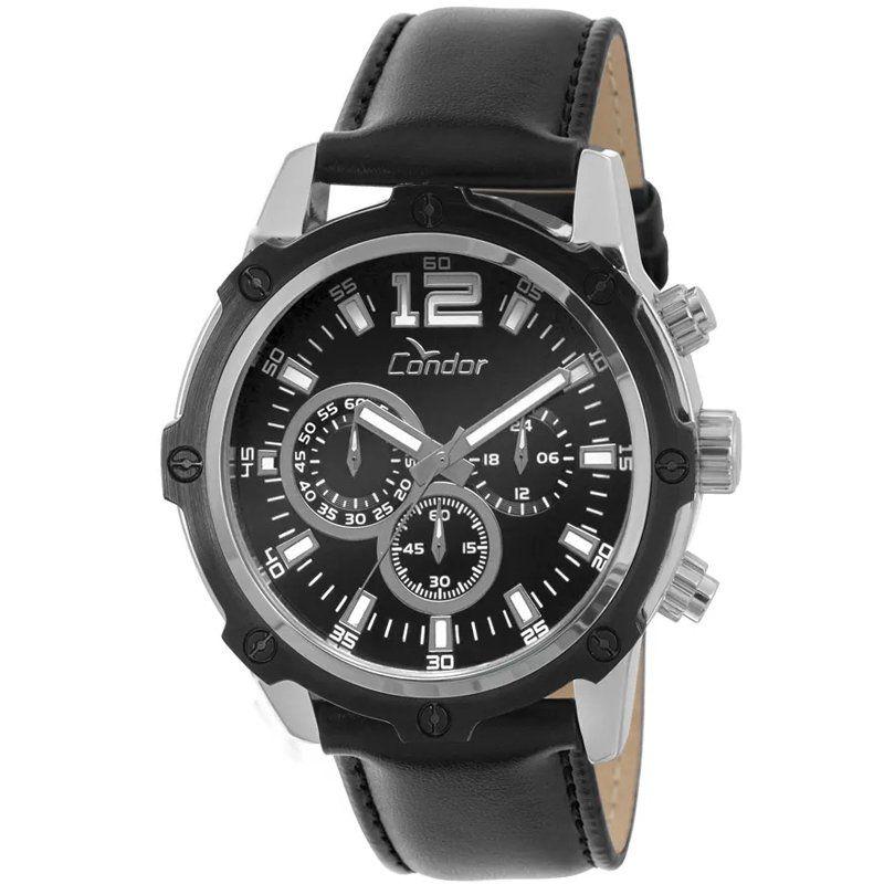 Relógio Condor COVD54AC/3P Metálico Pulseira Couro