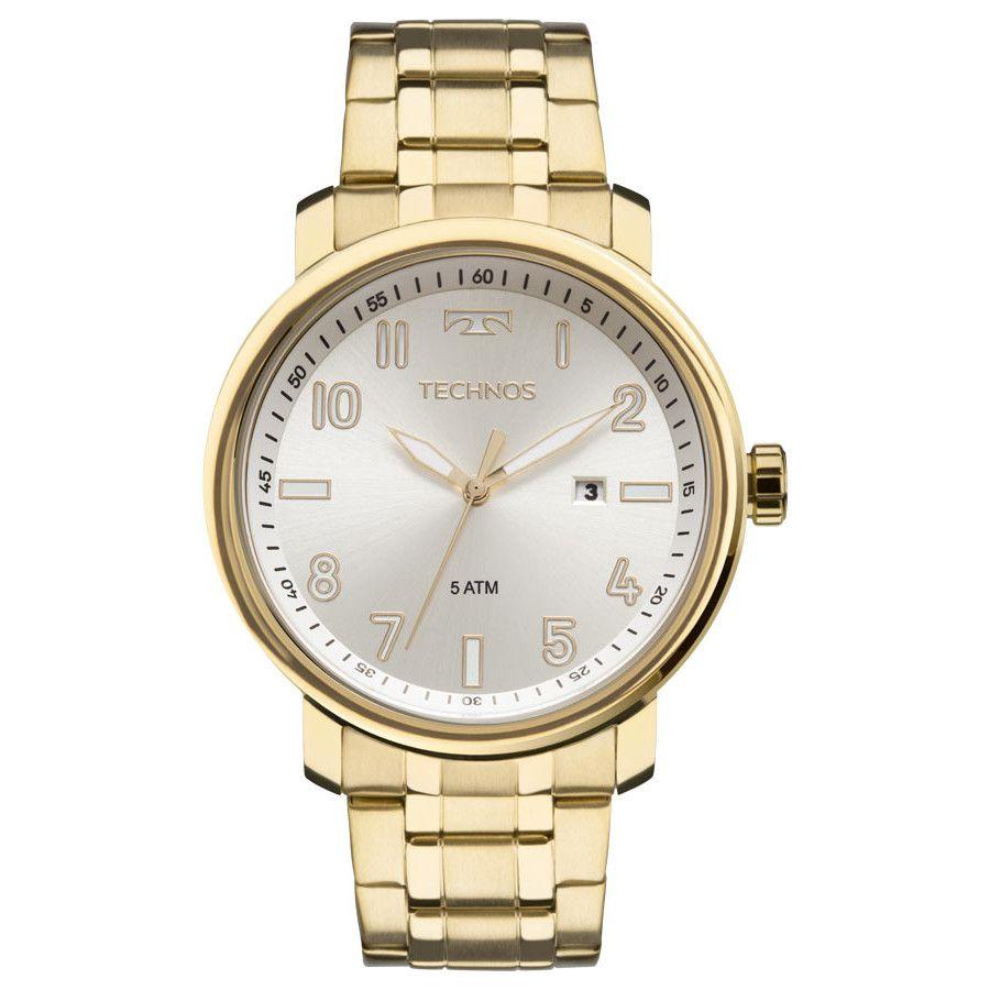 Relógio Tecnhos 211MNG/4X Dourado Pulseira Dourado