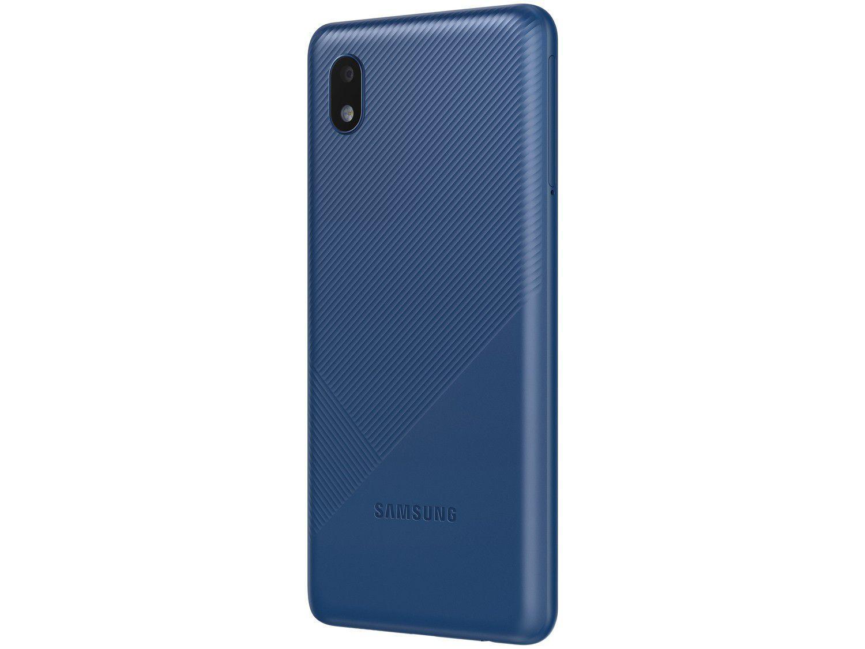 """Smartphone Samsung Galaxy A01 Core 32GB Azul - Quad-Core 2GB RAM Tela 5,3"""" Câm. 8MP + Selfie 5MP"""