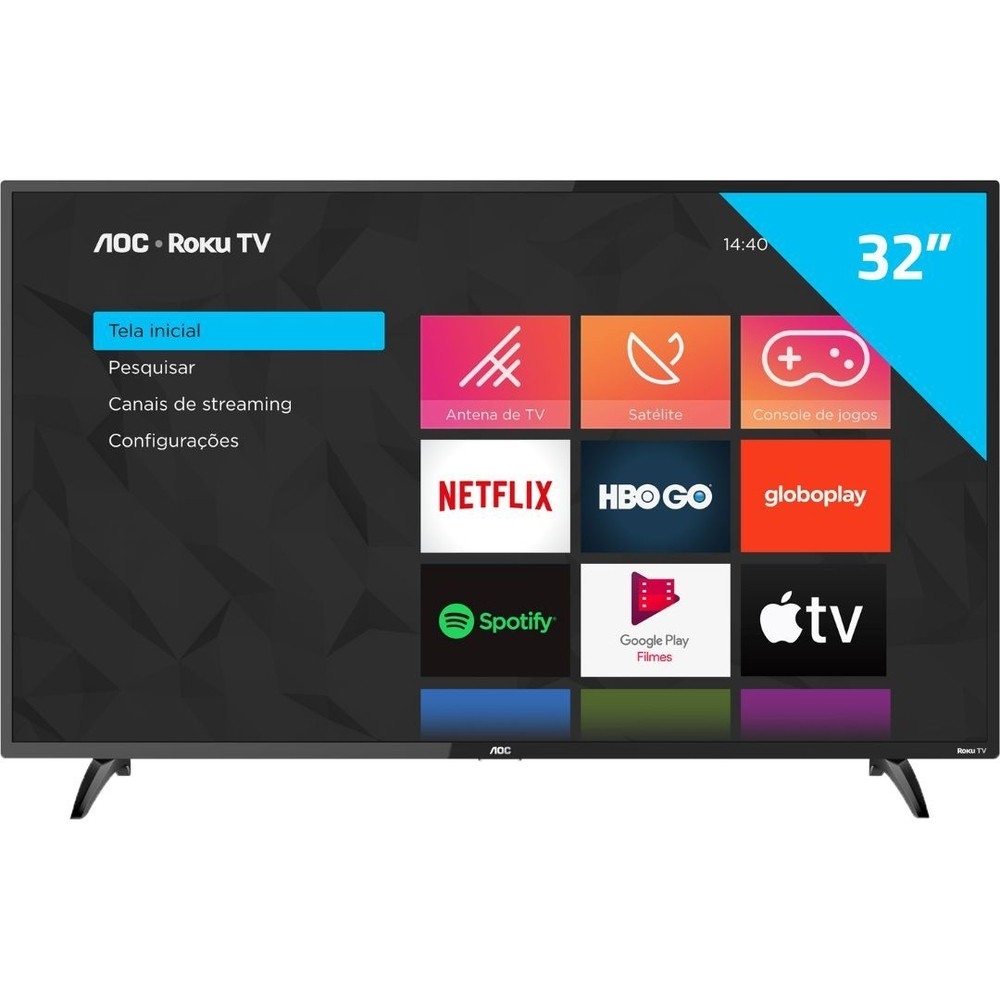 "Tv Aoc 32"" led 32s5195/78g Smart Roku Tv"