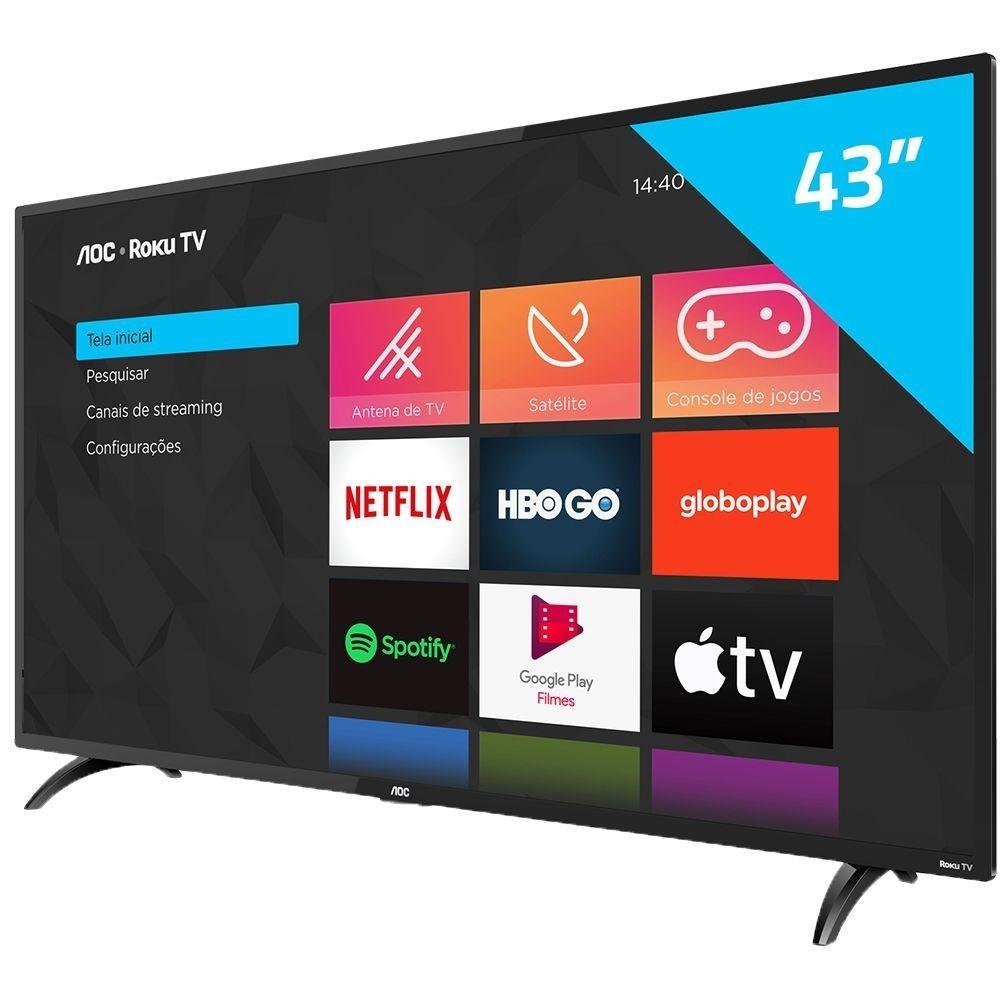 "Tv Aoc 43"" Led 43S5195/78G Smart Roku Tv"