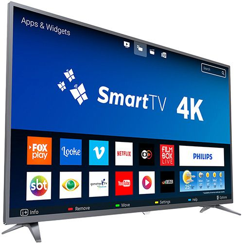 "TV PHILIPS 50"" LED 4K 50PUG6513/78 SMART"