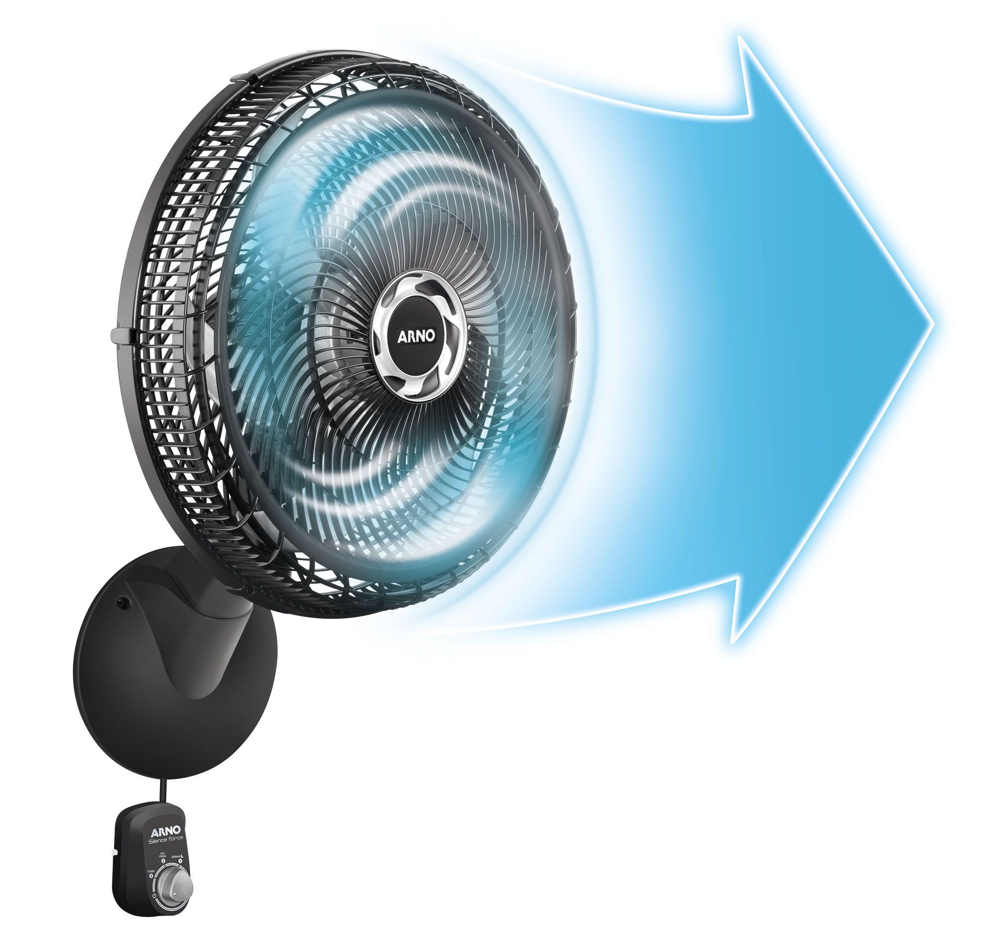 Ventilador Arno Silence Force - VF51 50cm Parede Preto