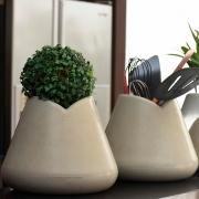 Kit de 2 Vasos Tulipa Cor Antique Camurça