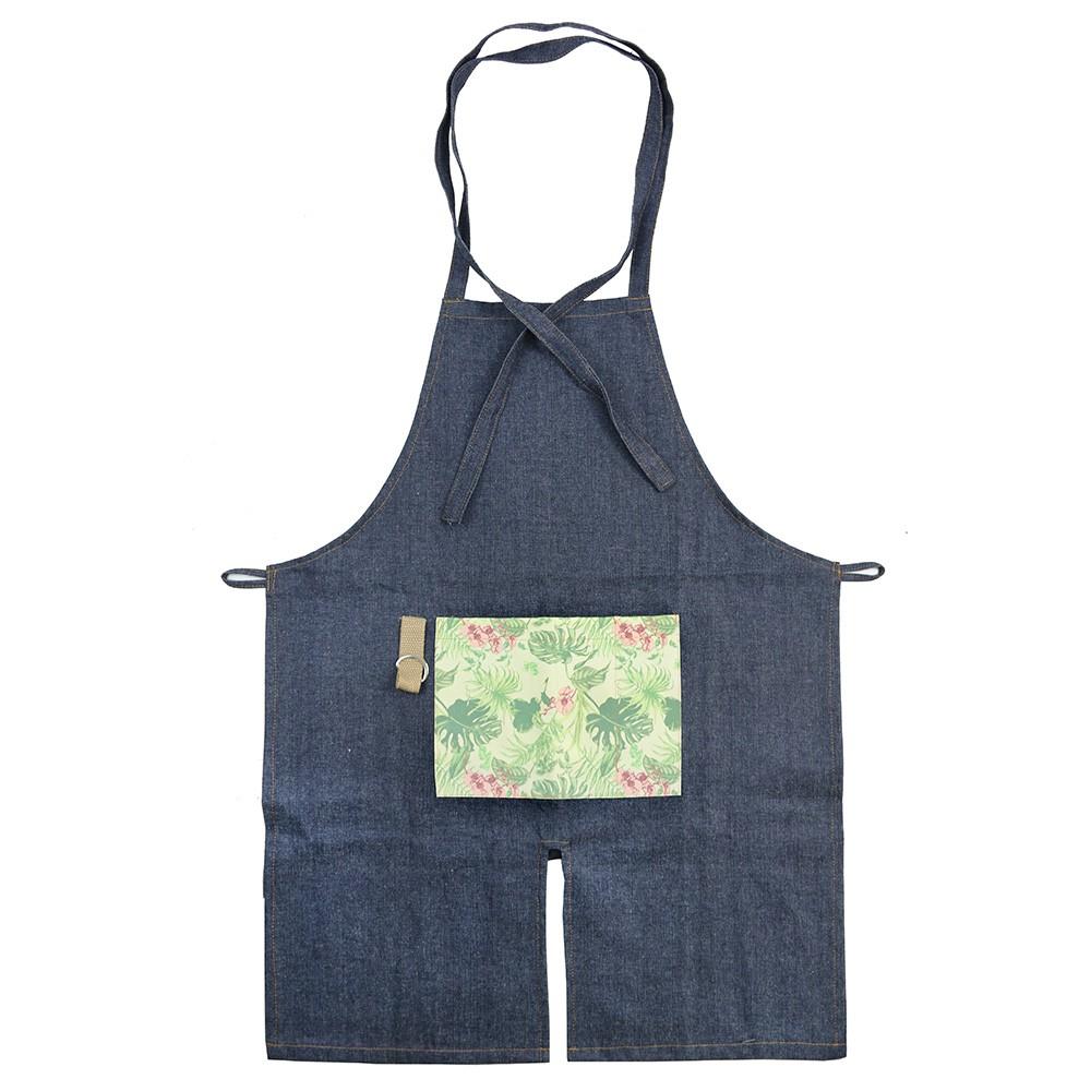 Avental para Jardinagem com Bolso Estampado - Verde Claro