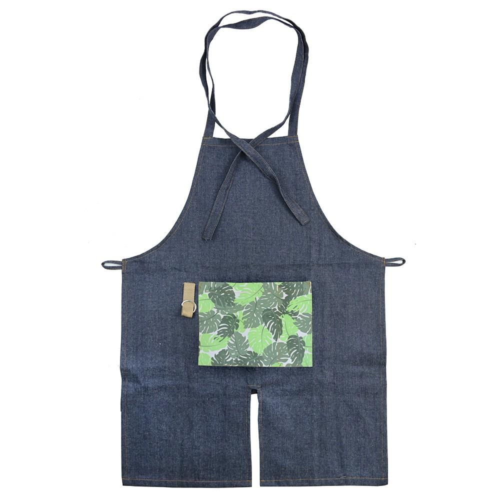 Avental para Jardinagem com Bolso Estampado - Verde Escuro