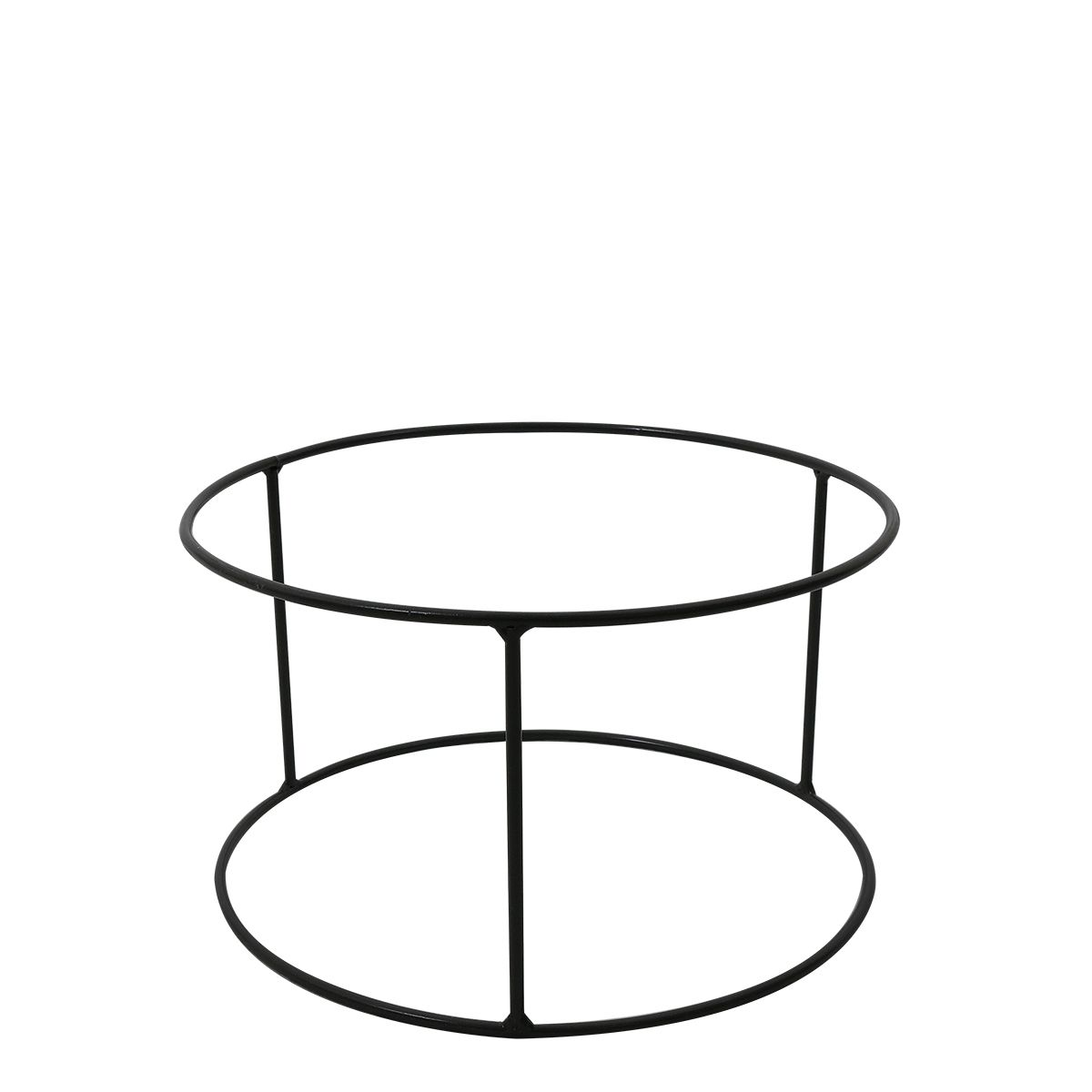 Suporte Ferro Vaso Loft 25 x 15 cm Grafite - VASART