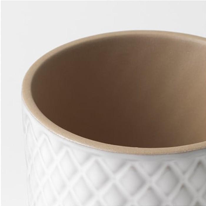 Vaso Porto Mat Cerâmica 11 cm Branco
