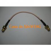 CABO CONECTORIZADO 'PIGTAIL' 15cm SMAf / SMAf