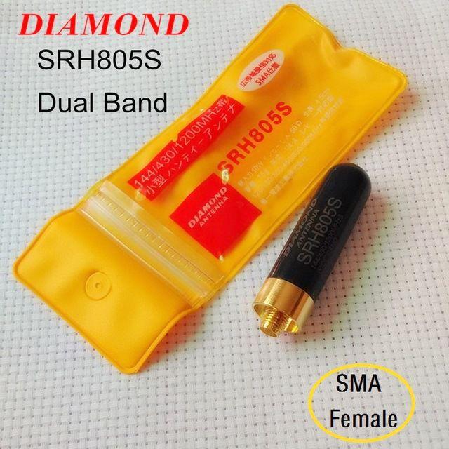 """ANTENA DIAMOND MINI """"STUBBY"""" TRI-BANDA SMA FÊMEA SRH805S"""