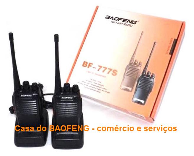 BF-777S - RÁDIO UHF BAOFENG 2.5W   ( CAIXA COM 30 KIT OU 60 APARELHOS )