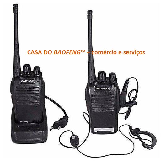 BF-777S - RÁDIO UHF BAOFENG 2.5W ( KIT EMBALAGEM COM 2 RÁDIOS )