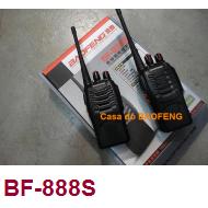 BF-888S - RÁDIO UHF BAOFENG 2.5W ( KIT EMBALAGEM COM 2 RÁDIOS )