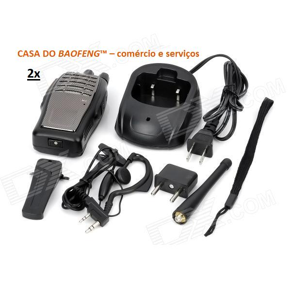 BF-A5 - RÁDIO UHF BAOFENG 3W ( EMBALAGEM COM 2 RÁDIOS )