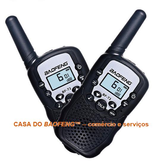 """BF-T3 - RÁDIO BAOFENG """"WALK TALK"""" MINI 0,5W"""