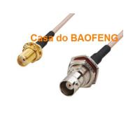 CABO CONECTORIZADO 'PIGTAIL' 15cm SMAf / BNCf