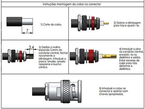 CONECTOR BNC MACHO SOLDA / PRENSA CABO - KLC