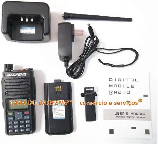 BAOFENG DM-1801/DM-860 - RÁDIO DUAL BAND DIGITAL DMR E ANALÓGICO FM