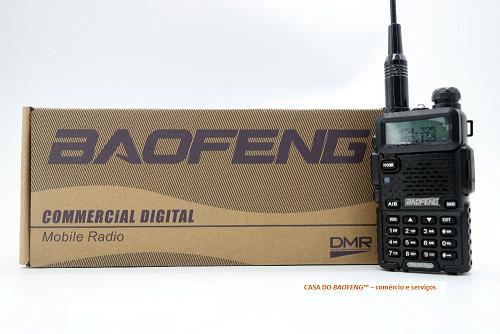 BAOFENG DM-5R - RÁDIO DUAL BAND DIGITAL DMR E ANALÓGICO FM
