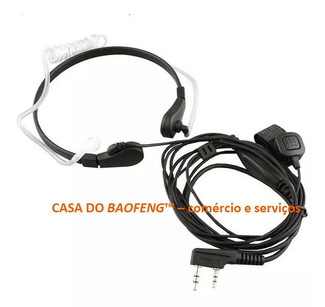 FONE DE OUVIDOS + PTT DE LAPELA BAOFENG - LARINGOFONE