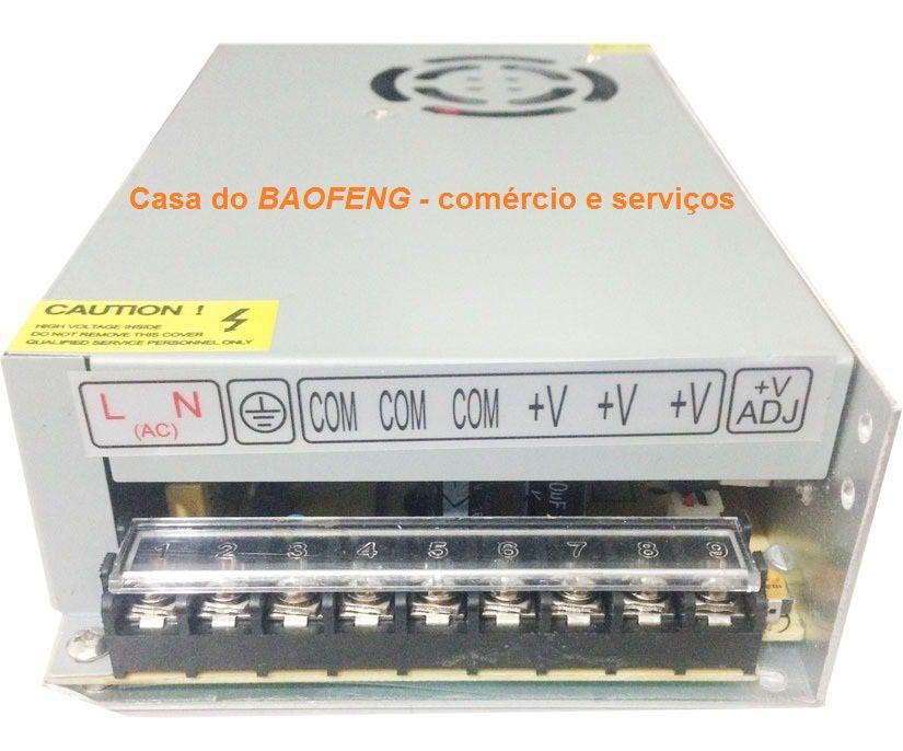 FONTE CHAVEADA 13.8V 20A - IMPORTADA / TESTADA