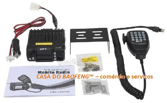 QYT KT-7900D - RÁDIO MÓVEL QUAD BAND VHF / UHF 25W