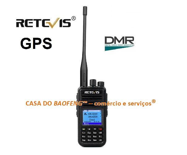 RETEVIS RT3S - RÁDIO VHF / UHF - DIGITAL DMR / ANALÓGICO FM - COM GPS