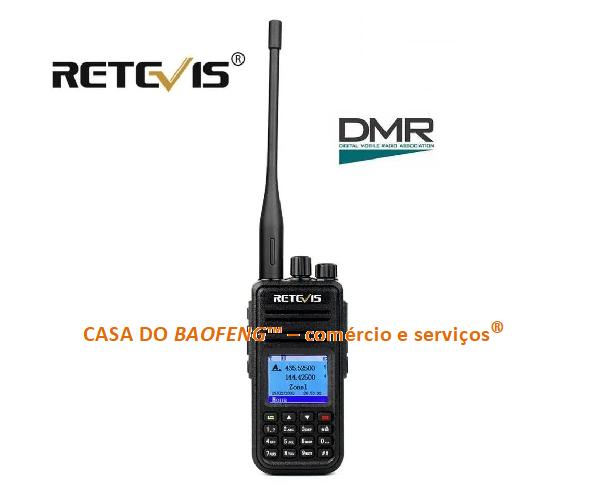 RETEVIS RT3S - RÁDIO VHF / UHF - DIGITAL DMR / ANALÓGICO FM - SEM GPS