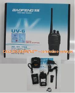 UV-6 - RÁDIO DUAL BAND VHF / UHF BAOFENG 8W