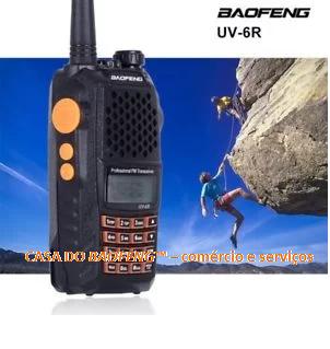 UV-6R/5W - RÁDIO DUAL BAND BAOFENG 5W   ( CAIXA COM 50 APARELHOS )