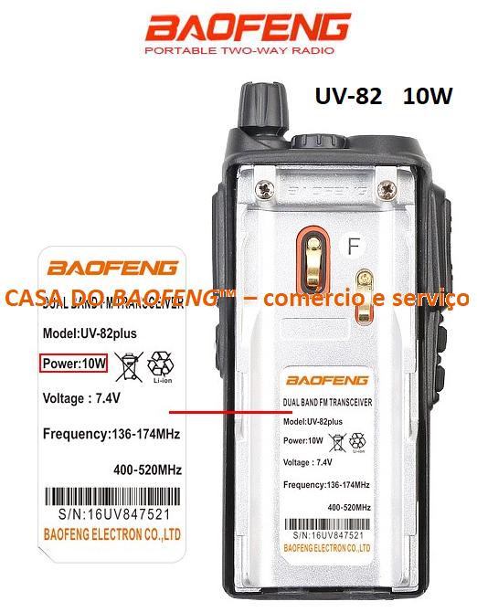 UV-82/10W - RÁDIO DUAL BAND BAOFENG   ( CAIXA COM 50 APARELHOS )