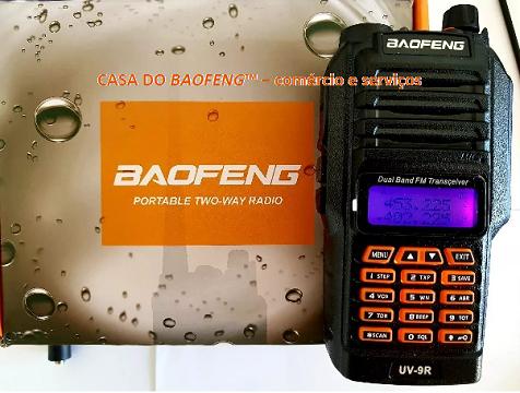 """UV-9R+ - RÁDIO A PROVA DÁGUA """"DUAL BAND"""" BAOFENG 10W"""