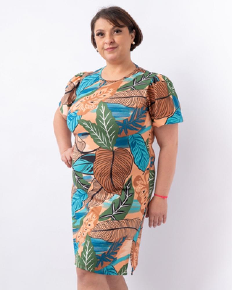 Vestido Plus Size Floral (4758)