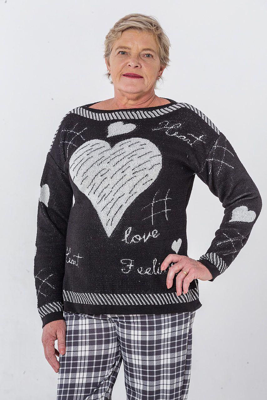 Blusa de tricô love
