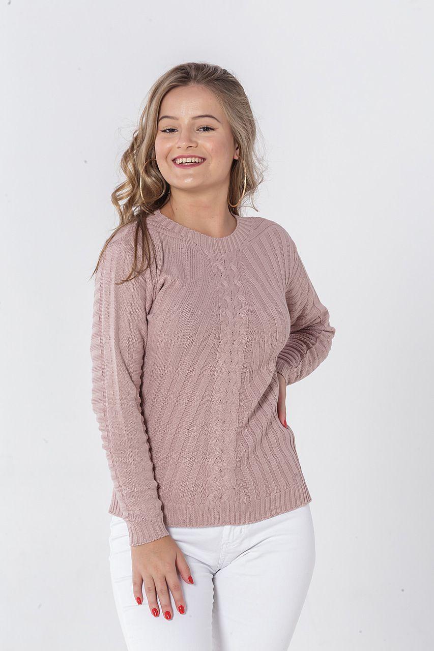 Blusa de tricô mulet
