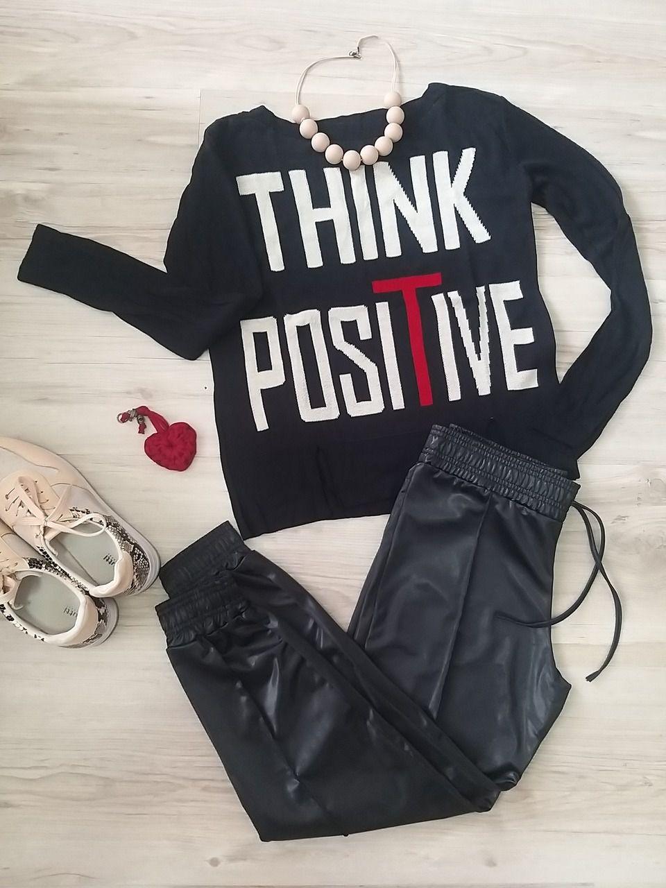 Blusa Pense Positivo