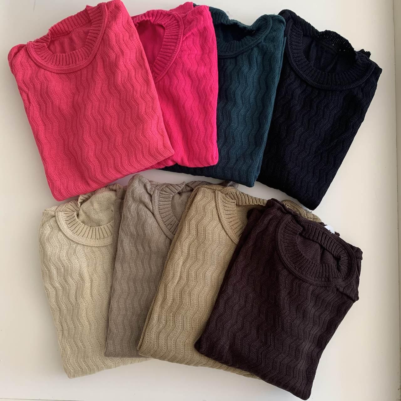 Blusa de tricô plus
