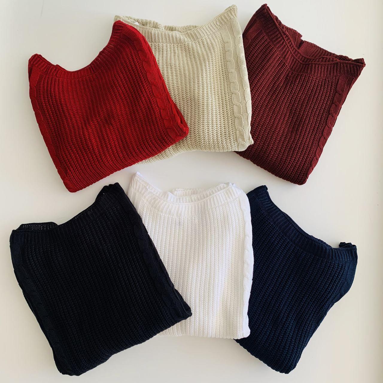 Blusa de trico trança