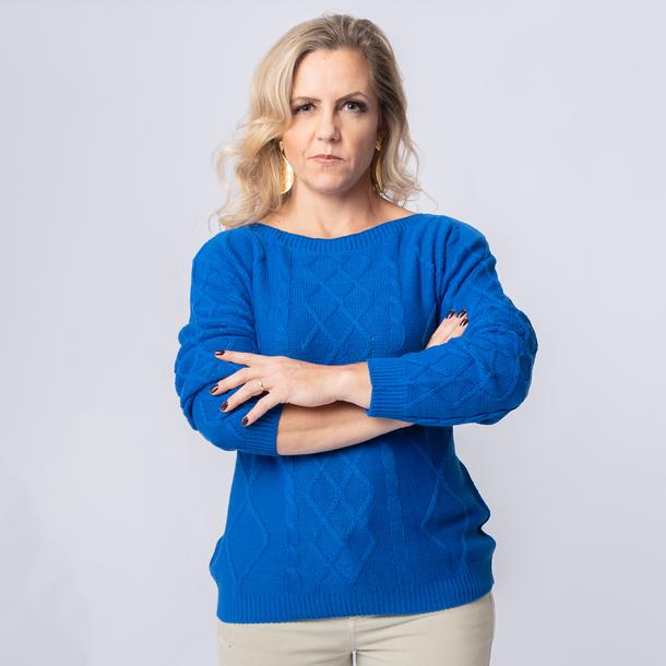 Blusa Tricô Gola Canoa